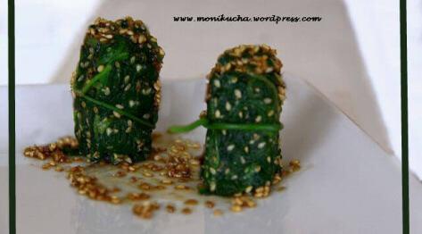 Czas na zielone: sałatka Goma Ae ze szpinakiem