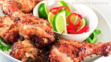 Kurczak po tajsku w kokosowej panierce