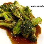Brokuły w sosie ostrygowym