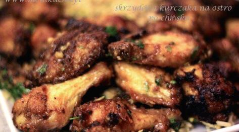 Skrzydełka kurczaka na ostro po chińsku