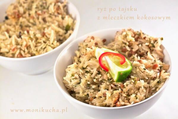 Tajski Ryz Gotowany Z Mleczkiem Kokosowym Poluzuj Pl