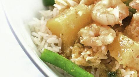 Tajskie curry z krewetkami i dynią