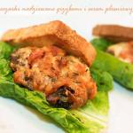 Pieczarki nadziewane grzybami i serem pleśniowym