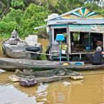 Jezioro Tonle Sap, Kambodża – pływające wioski i targi oraz jak dojechać z Siem Reap do Phnom Penh. Wodolot przez Tonle Sap.