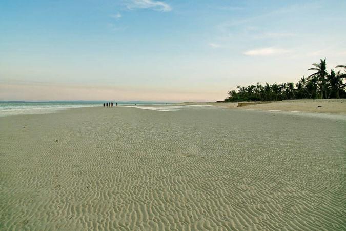 Dla porównania - ta sama plaża co dzień.