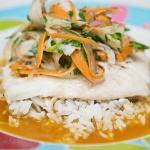 Filety rybne w sosie z pomarańczy